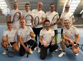 h.l.:Thomas Jocham, Markus Schäfer, Olaf Hurst, Harald Weishaupt, Thilo Bohr - v.l.: Torsten Thiemann, Frank Hellmond, Andreas Osswald, Joachim Herbst