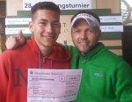 Sieger in Mochenwangen: Noah Wallace (Herren B) und Sergej Schwarz (Herren A)