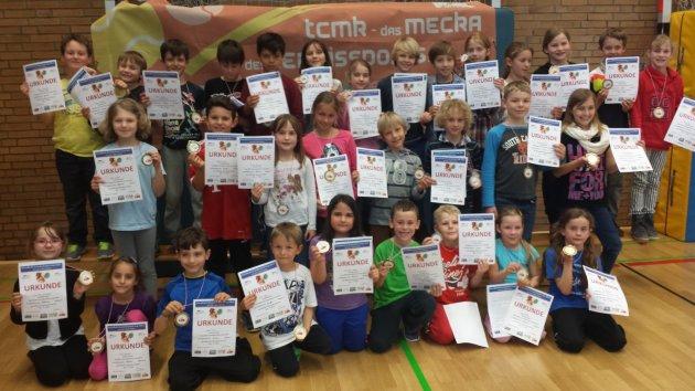 Die Erstplatzierten des GenoBank-Grundschulen-Cup 2014 in Kehlen