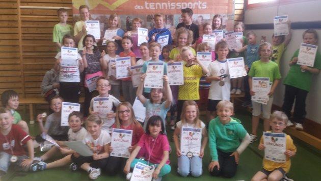 Die Erstplatzierten des GenoBank-Grundschulen-Cup 2014 in Liebenau