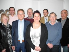 v.l.: Rosi Schechinger, Oliver Dunger, Rolf Schmid, Kurt Ingenpass, Andrea Kasper, Lukas Gengenbacher, Siegfried Osswald, Nik Schwindl