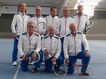 h.l.: F. Buser, H. Leinberger, J. Wagner, M. Locher, P. Gaissmaier - v.l.: R. Schmid (MF), H. Breit, D. Schmid
